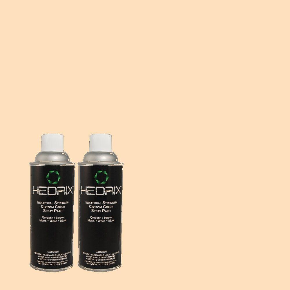 Hedrix 11 oz. Match of 2B15-1 Milky Peach Semi-Gloss Custom Spray Paint (2-Pack)