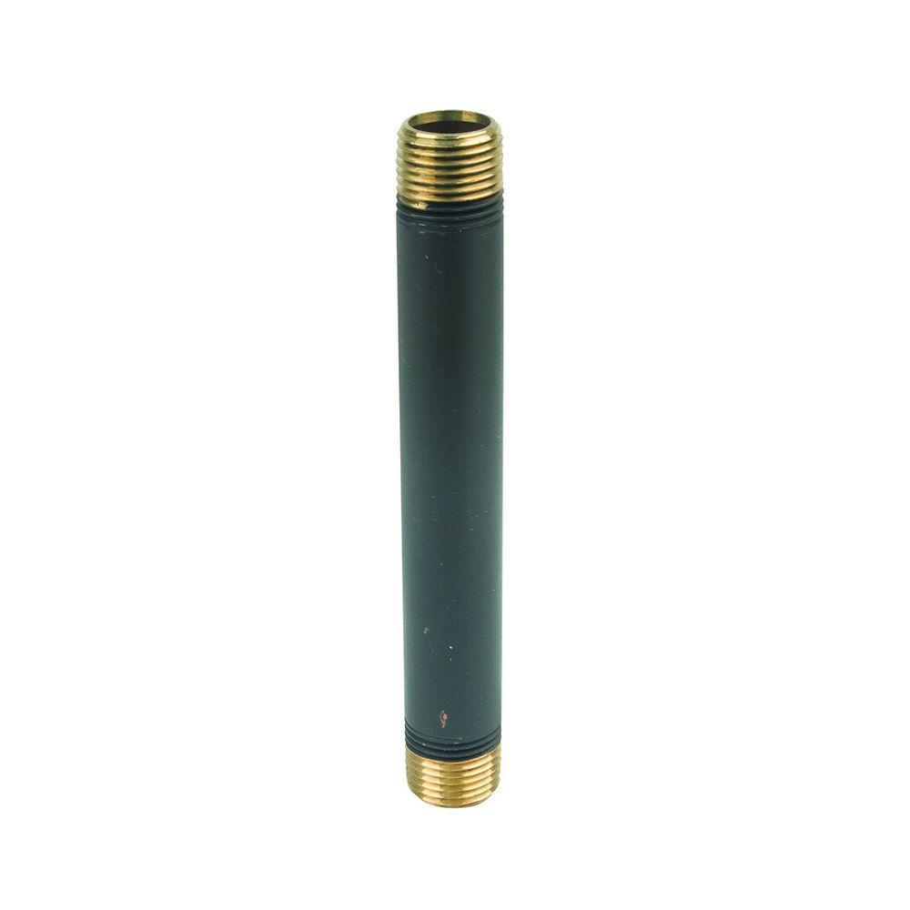 1/2 in. MIP x 6 in. Brass Pipe Nipple in Oil