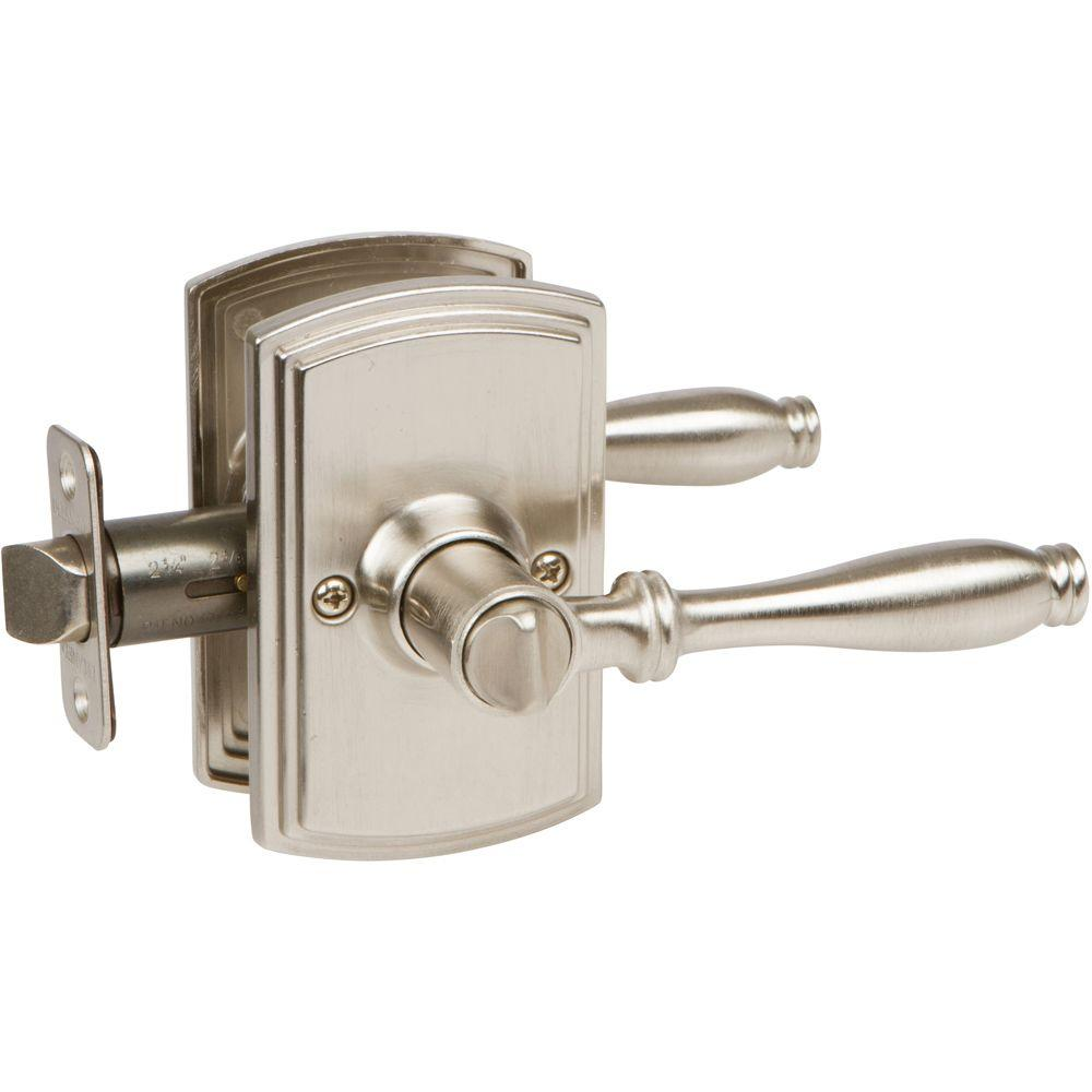 Italian Collection Sorado Satin Nickel Bed and Bath Lever