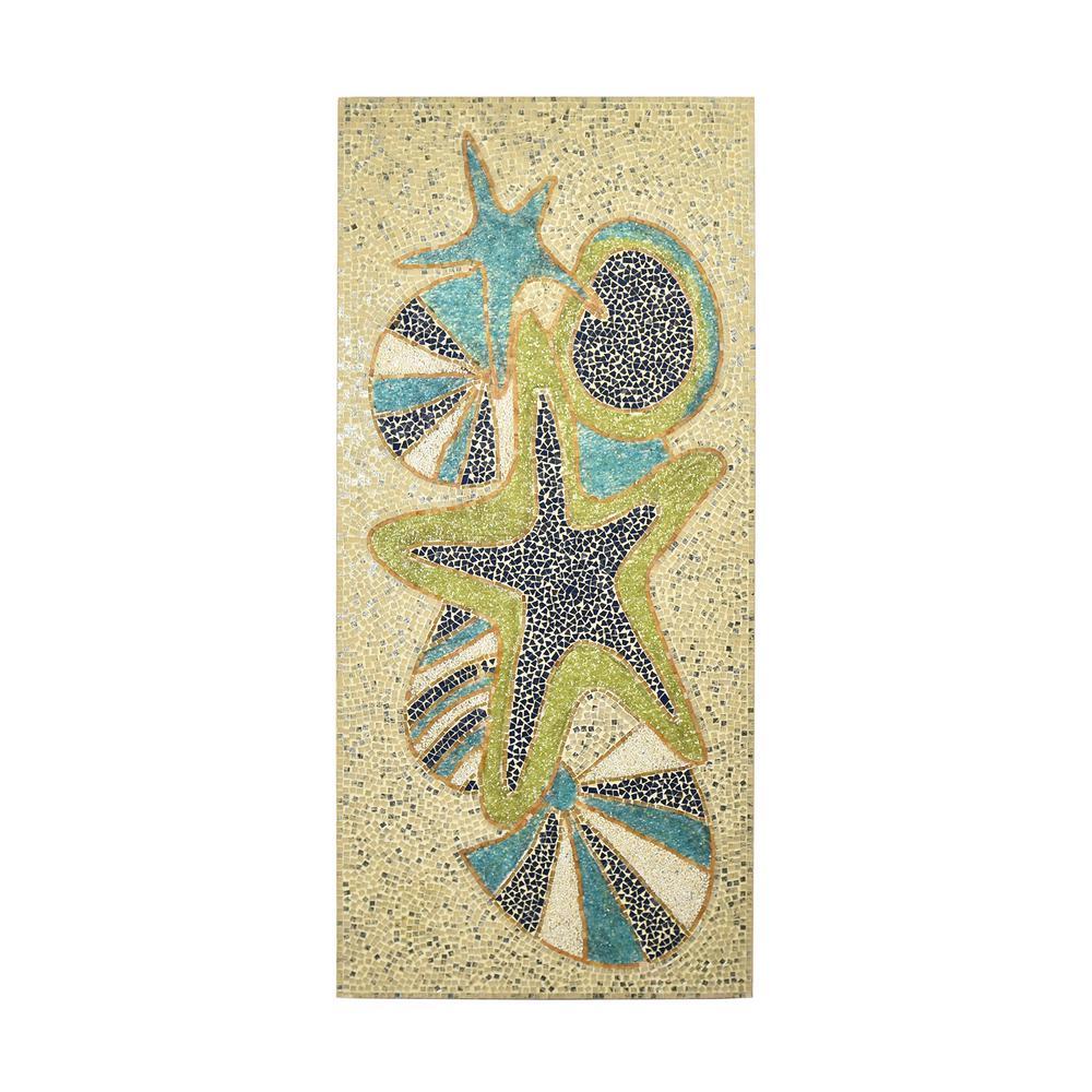 Sealife Wooden Mosaic Panel