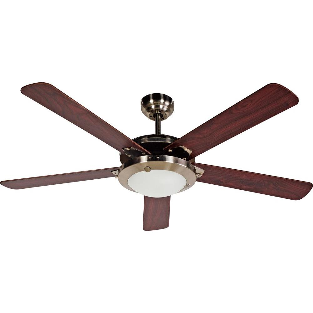 Design House Eastport 52 In. Satin Nickel Ceiling Fan