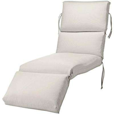 23 x 80 Outdoor Chaise Lounge Cushion in Sunbrella Spectrum Dove