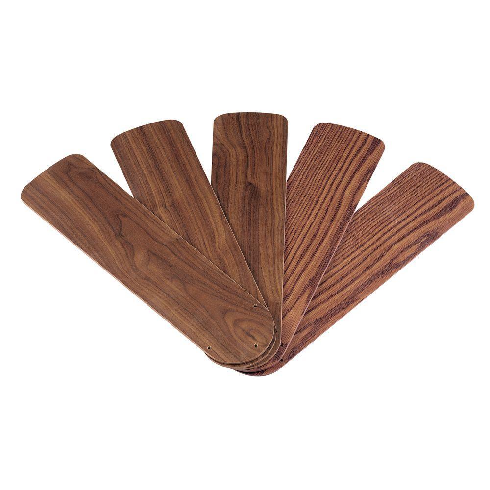 Westinghouse 42 in. Oak/Walnut Replacement Fan Blades (5-Pack)