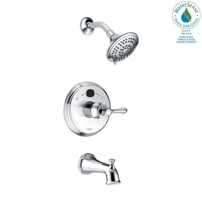 Temp2O LED Digital Temperature Display Single-Handle 5-Spray Tub and Shower Faucet in Chrome (Valve Included)