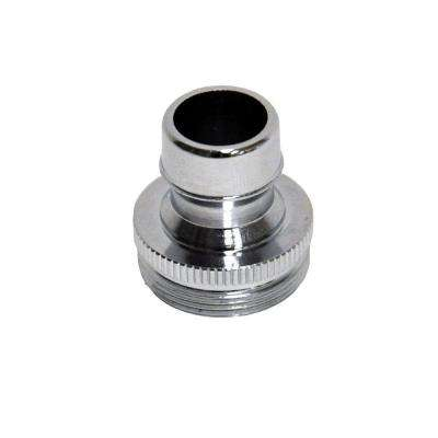 15/16 in. to 27M or 55/64 in. 27F Chrome Small Male Dishwasher Aerator Adapter