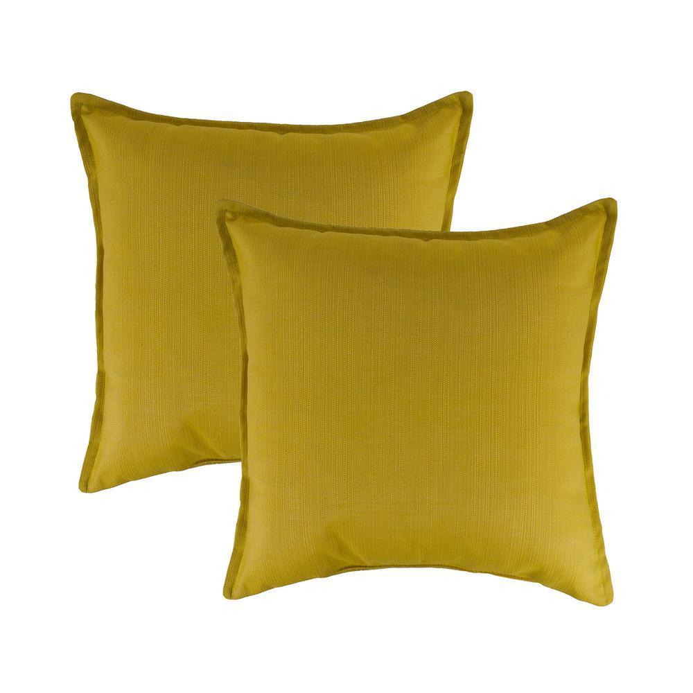 Sunbrella Echo Citron 20 in. Outdoor Pillow (Set of 2)