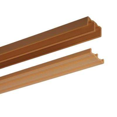 48 in. Tan Plastic Door Track Assembly
