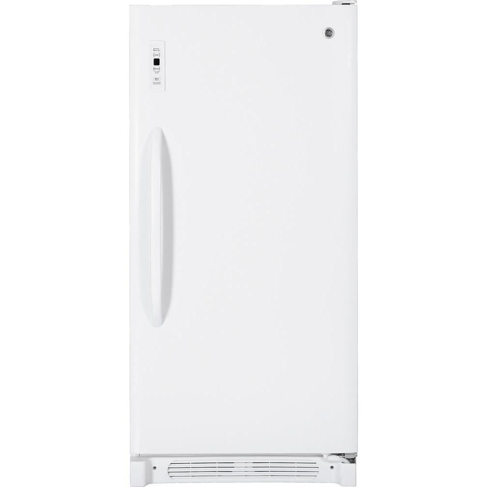 GE 13.7 cu. ft. Frost Free Upright Freezer in White