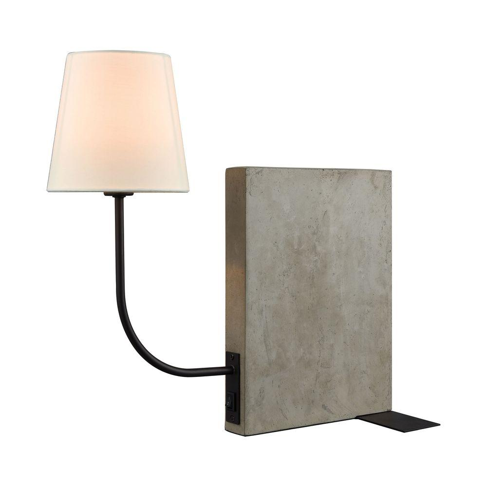 Titan lighting sector 17 in oil rubbed bronze shelf sitting table oil rubbed bronze shelf sitting table lamp geotapseo Gallery