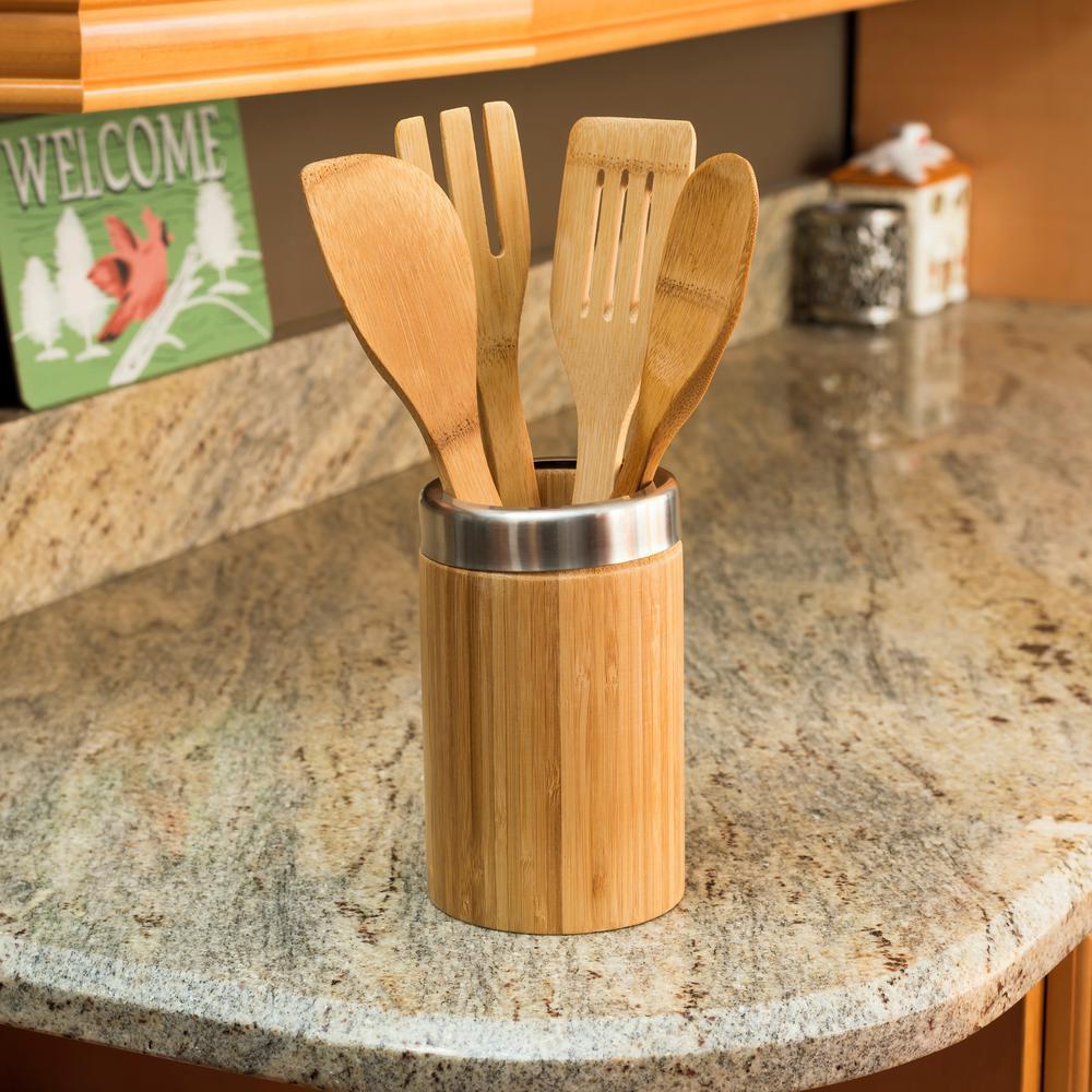 Home Basics 5-Piece Bamboo Tool Set