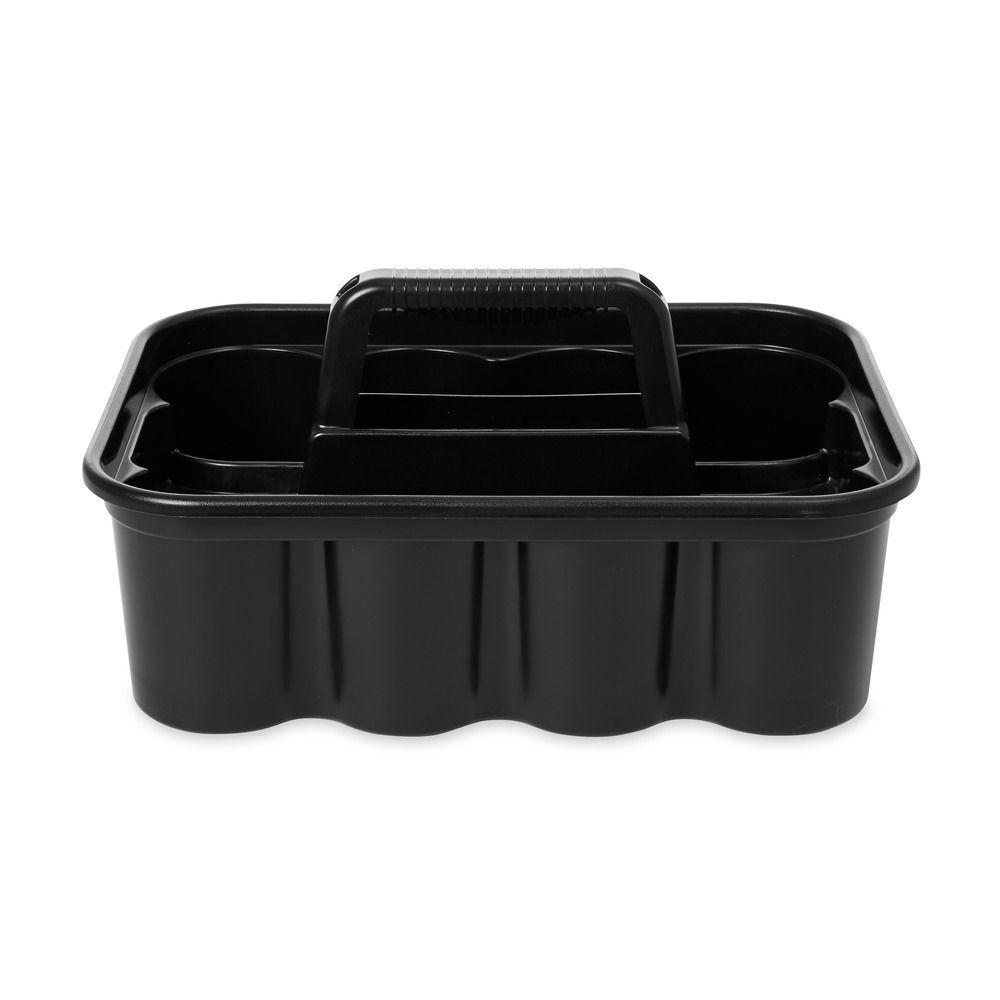 Wondrous Rubbermaid Commercial Products Deluxe Black Plastic Carry Caddy Download Free Architecture Designs Scobabritishbridgeorg