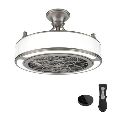 Anderson 22 in. LED Brushed Nickel Ceiling Fan with Remote Control works with Google and Alexa