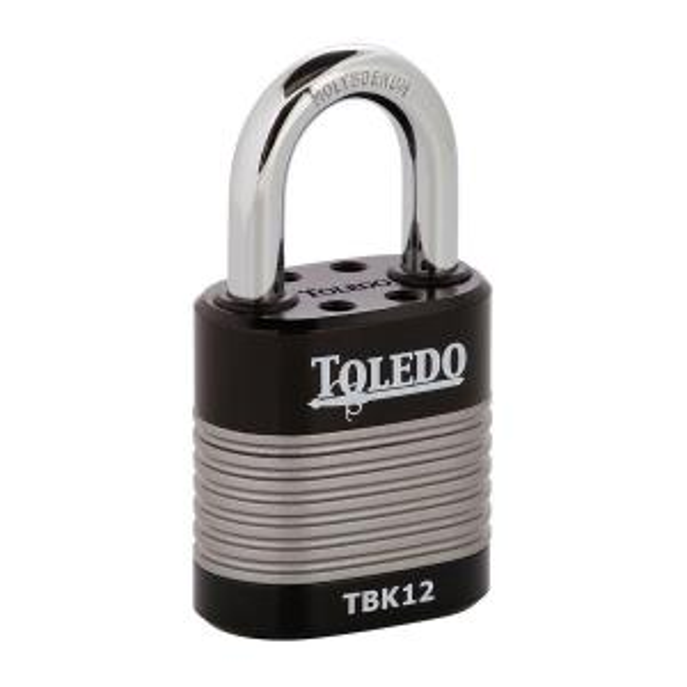 Toledo Black Series 1.73 inch High Security Armored Steel Laminated Padlock by Toledo Black Series