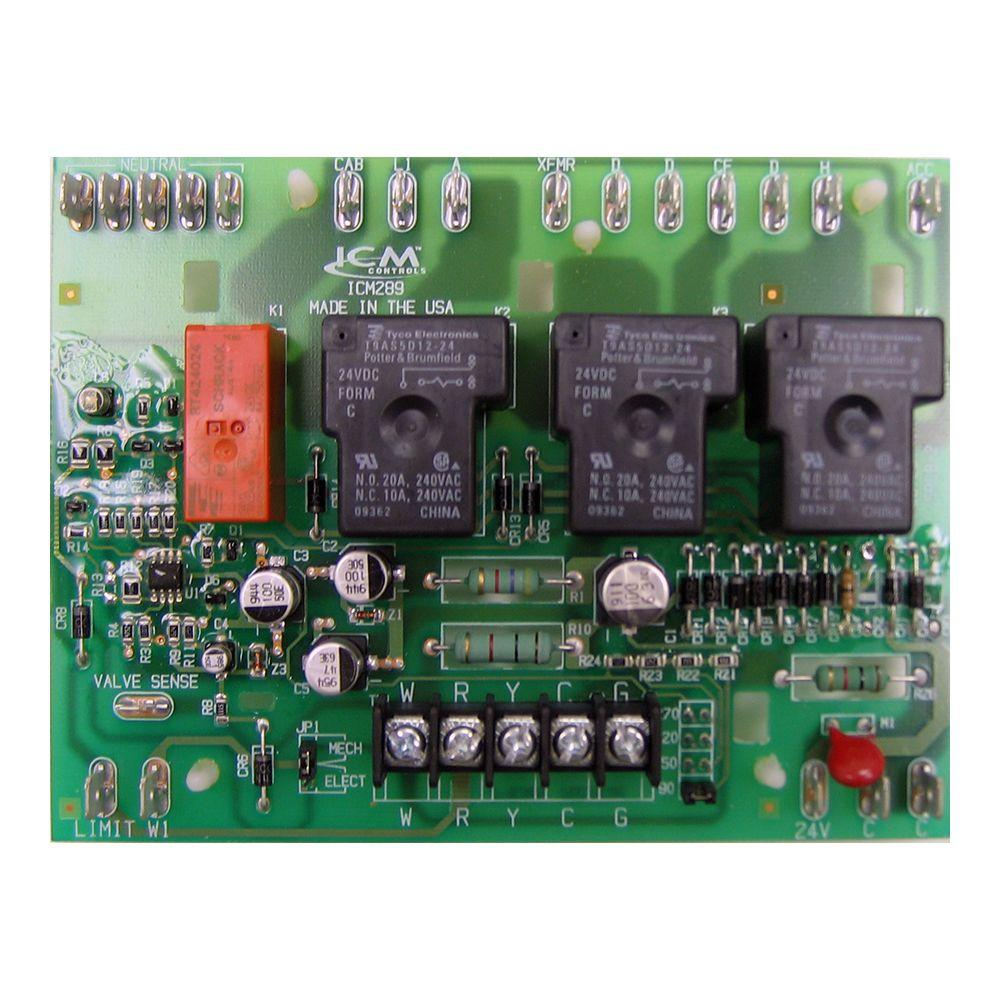 5 1 2 in lennox furnace control board icm289 the home depot rh homedepot com