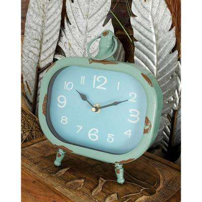 8 in. x 8 in. Multi Rounded Rectangular Peg-Legged Table Clocks (Set of 4)