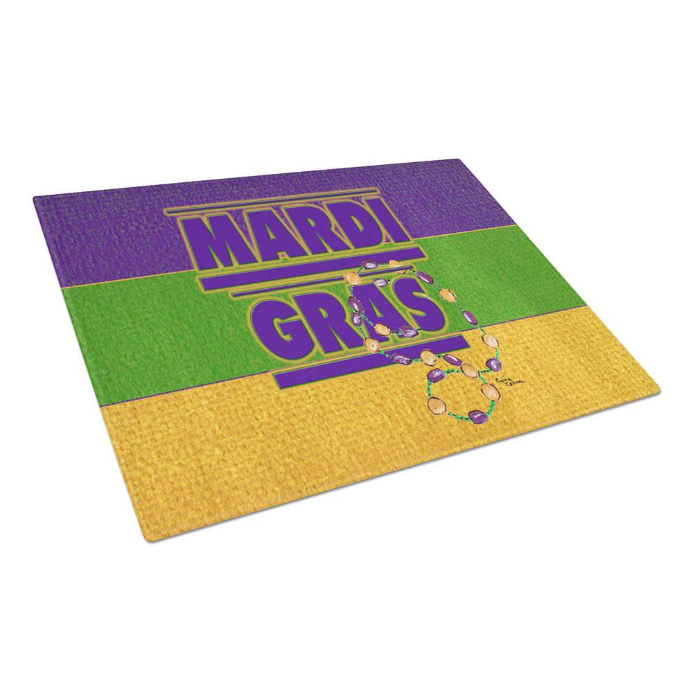 Mardi Gras Tempered Glass Cutting Board