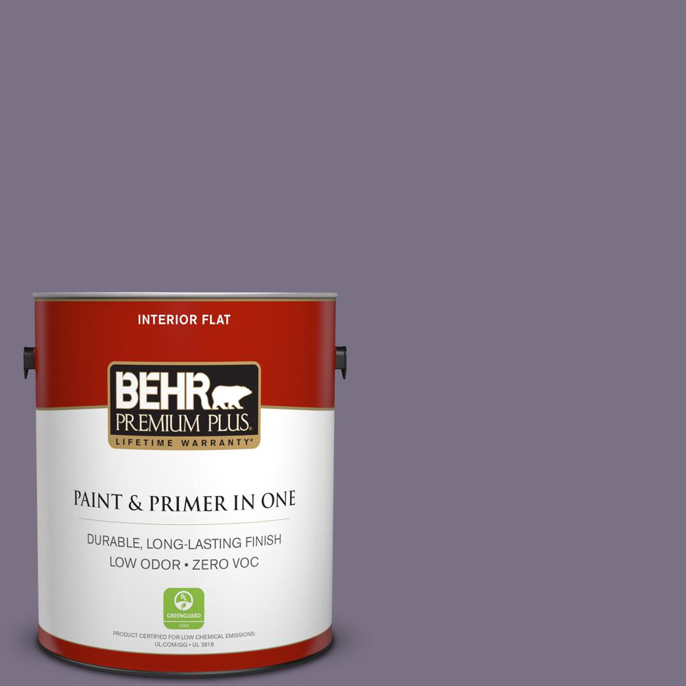 BEHR Premium Plus 1-gal. #660F-6 Peruvian Violet Zero VOC Flat Interior Paint