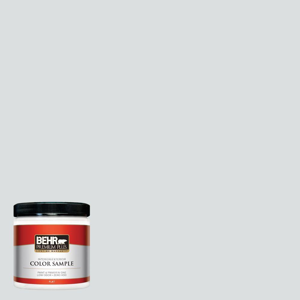 8 oz. #720E-1 Reflecting Pool Flat Zero VOC Interior/Exterior Paint and