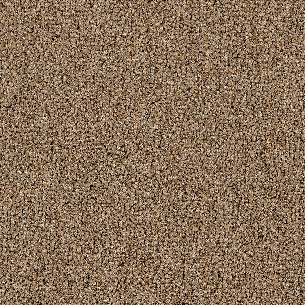 Carpet Sample - Top Rail 26 - Color Burlap Loop 8 in. x 8 in.