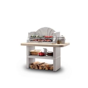 LaToscana Palazzetti St. Tropez Charcoal or Wood Fire Outdoor Pedestal Grill in... by LaToscana