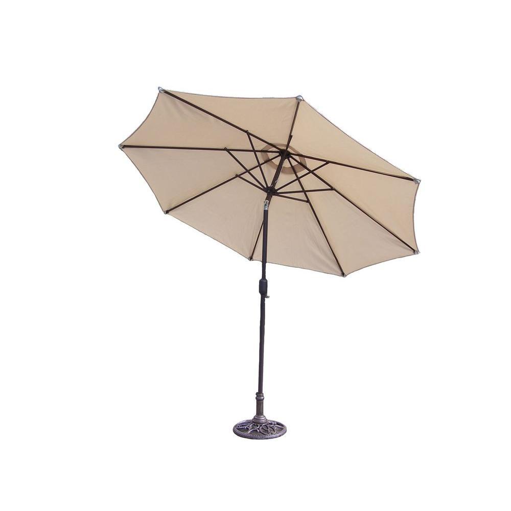 Oakland Mississippi 9 ft. Tiltable Patio Umbrella in Beig...