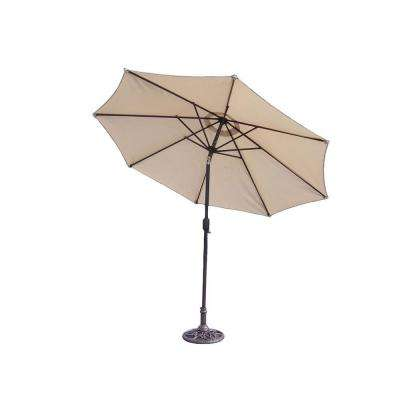 Mississippi 9 ft. Tiltable Patio Umbrella in Beige with Stand