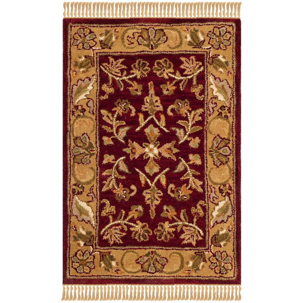 Safavieh Heritage Red Gold 3 Ft X 5 Ft Area Rug Hg170a 3