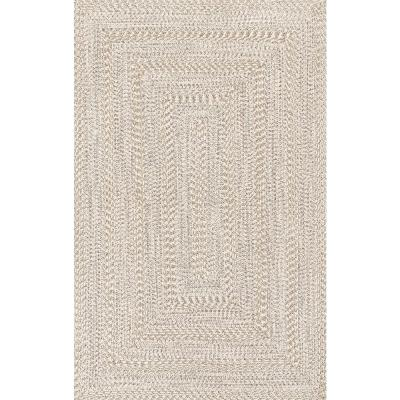 Rowan Braided Texture Ivory 7 ft. 6 in. x 9 ft. 6 in. Indoor/Outdoor Area Rug