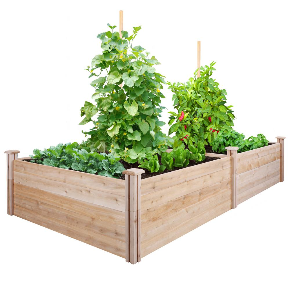 4 ft. x 8 ft. x 17.5 in. Cedar Raised Garden