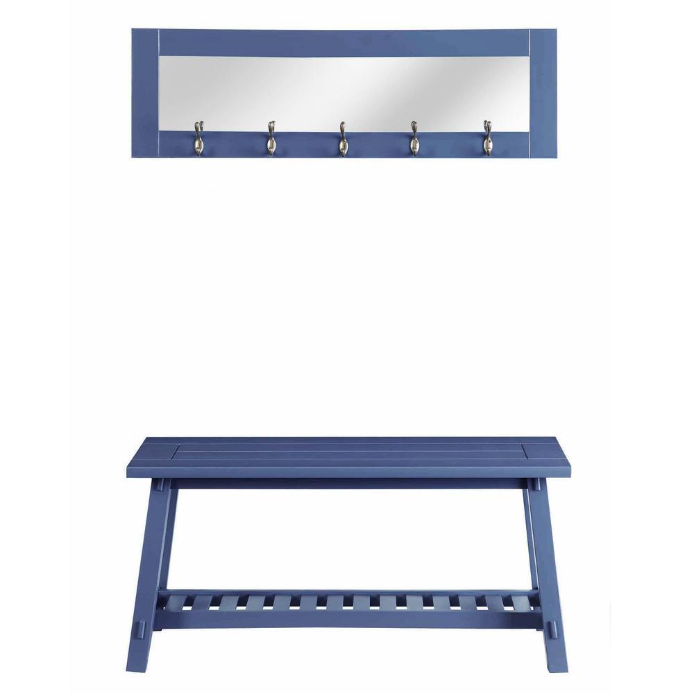 Wonderful Stanton Blue Bench And Mirror