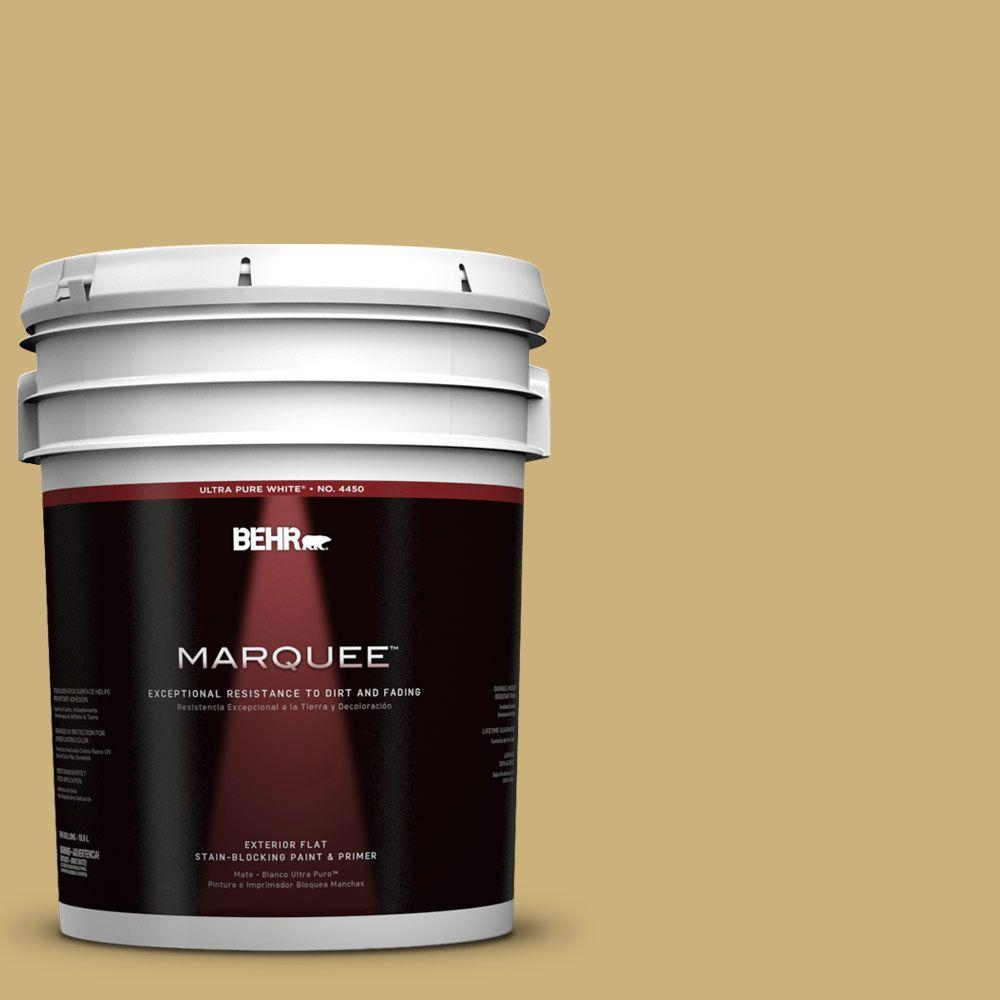 BEHR MARQUEE 5-gal. #360F-4 Dry Sea Grass Flat Exterior Paint