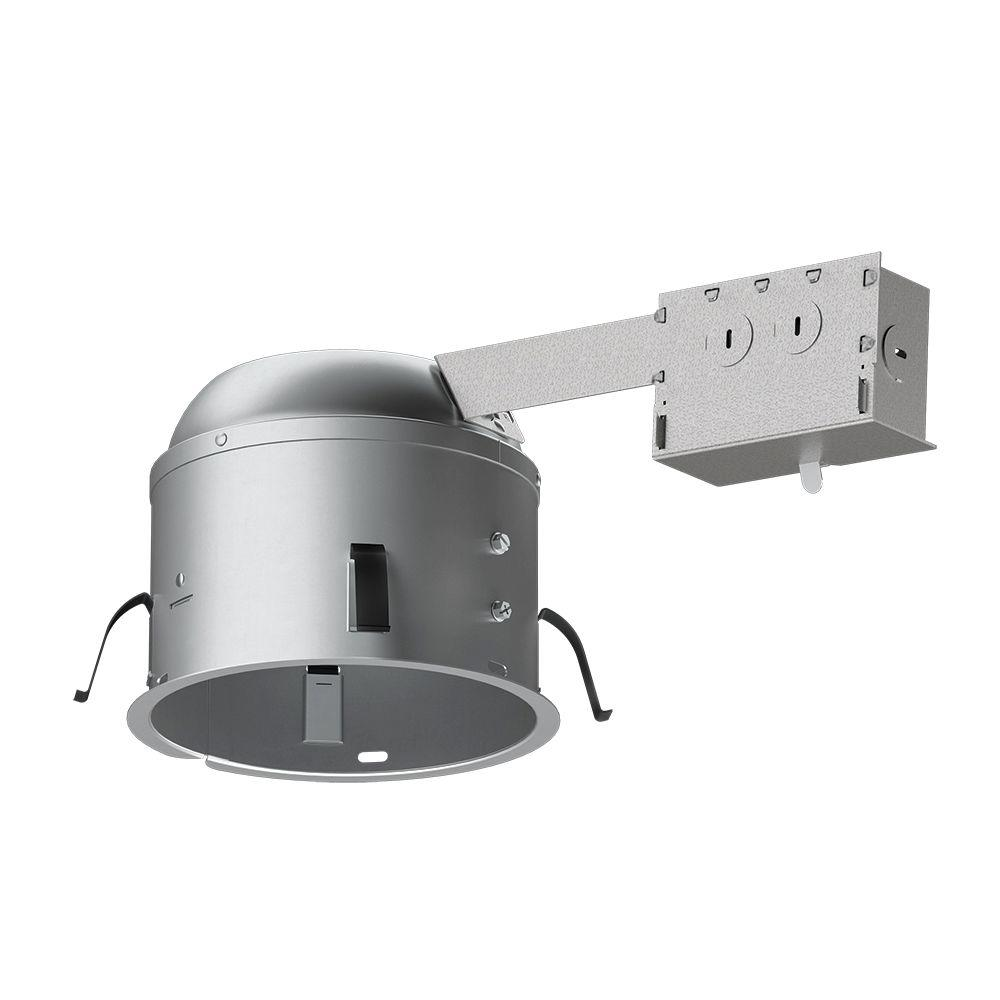 Halo H2750 6 In Aluminum Led Recessed Lighting Housing For Remodel Shallow Ceiling T24 Insulation Contact Air E