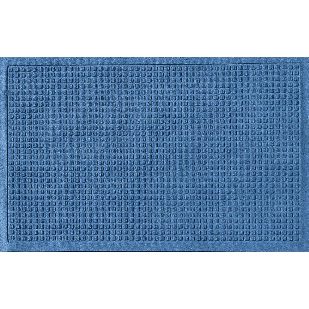 Aqua Shield Medium Blue 24 in. x 36 in. Squares Polypropylene Door Mat