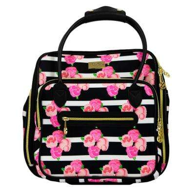 Petunia 16 in. Magenta Soft Sided Under Seat Rolling Luggage