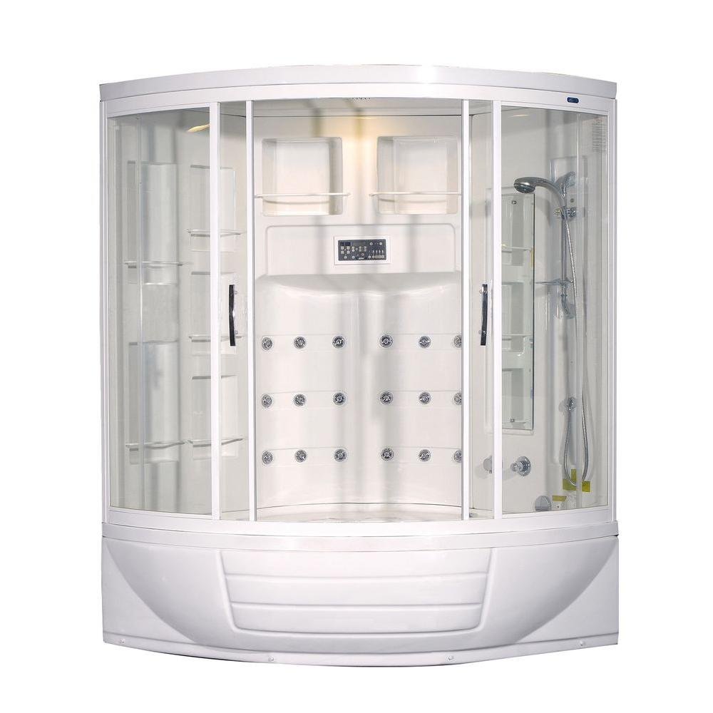 Aston zaa216 56 in x 56 in x 87 in corner steam shower for Build steam shower