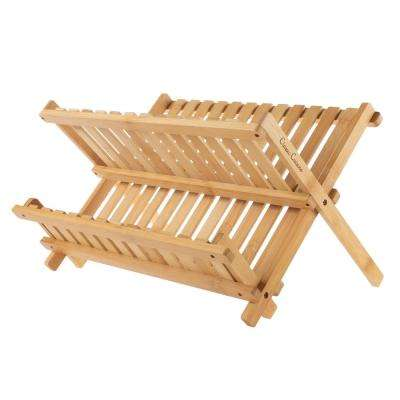 Bamboo Folding Dish Drying Rack