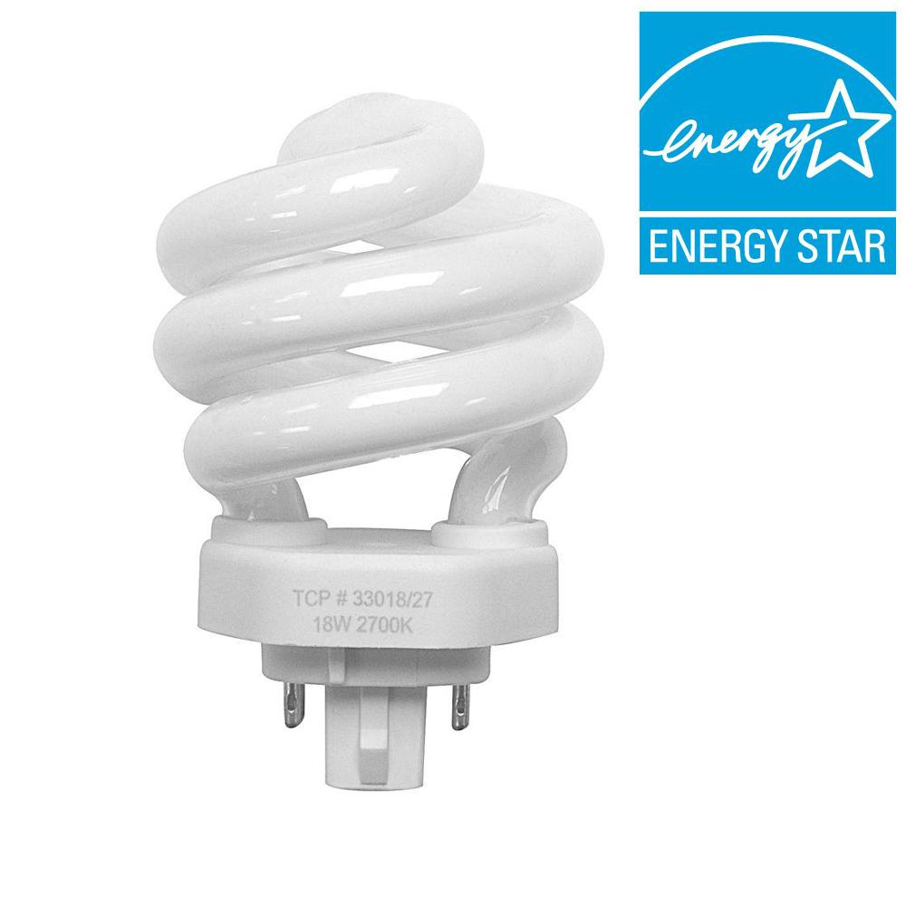 TCP 75W Equivalent Cool White (4100K) Spiral CFL Light Bulb