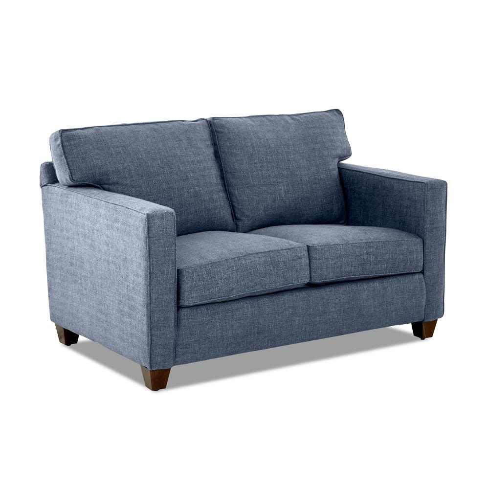 Avenue 405 Carter Denim Polyester Seater Loveseat Removable Cushion Blue 22432