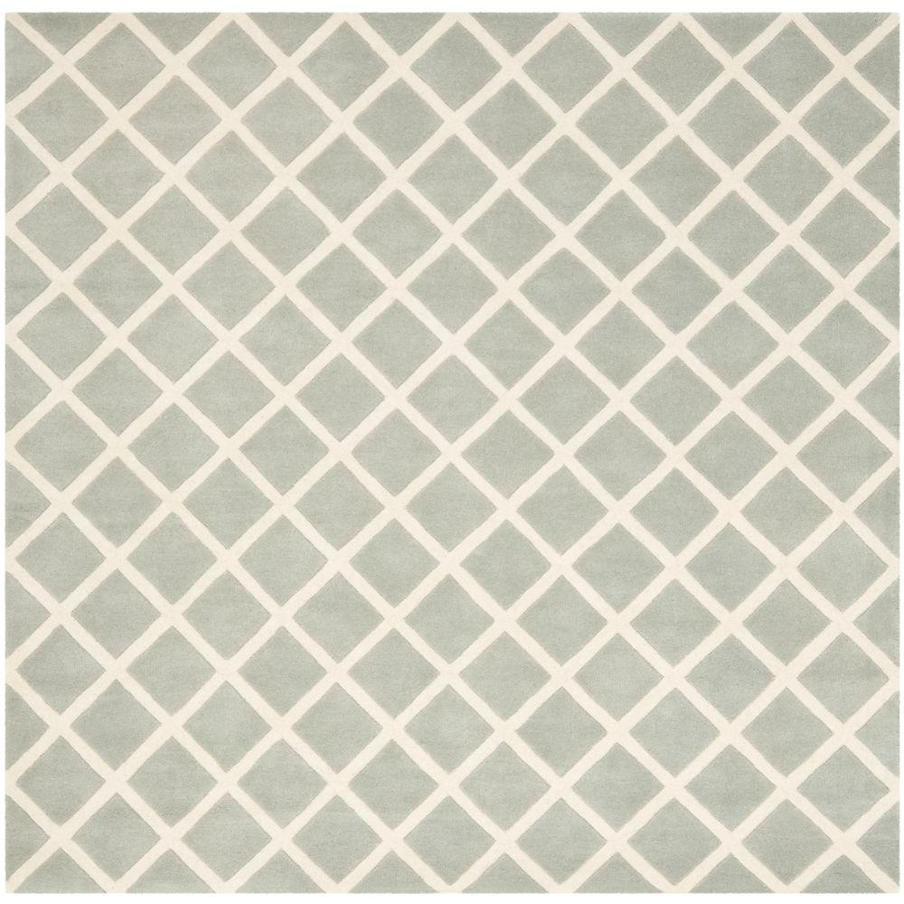 Safavieh Chatham Grey/Ivory 7 ft. x 7 ft. Square Area Rug