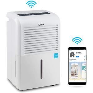 50-Pint Smart Wifi Dehumidifier with Built-In Pump - White