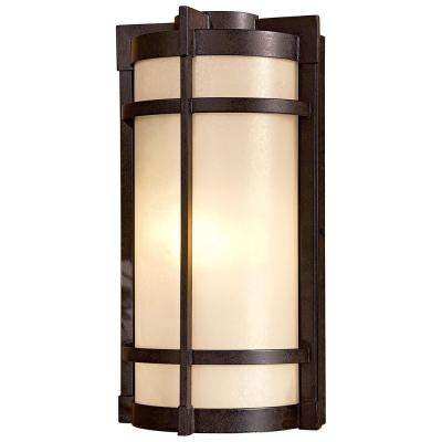 Andrita Court 1-Light Textured French Bronze Outdoor Pocket Lantern
