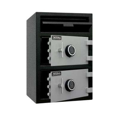 3.6 cu. ft. All Steel Depository Safe with Two Electronic Locks in 2-Tone, Black and Grey