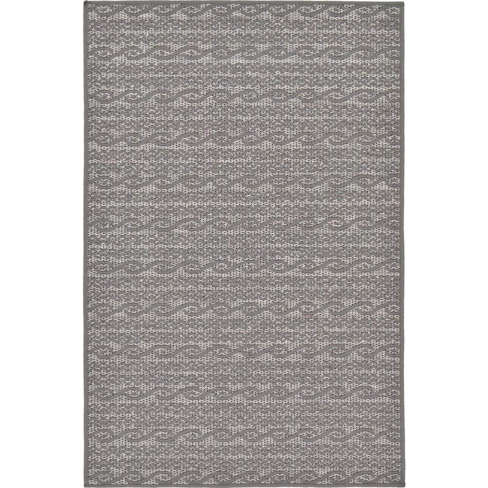 "Outdoor Modern Gray 3'3"" x 5' Rug"