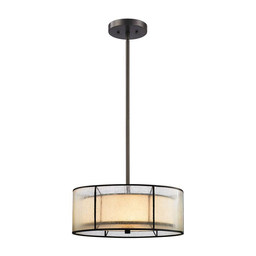 An Lighting Mirage 3 Light Tiffany Bronze Led Chandelier