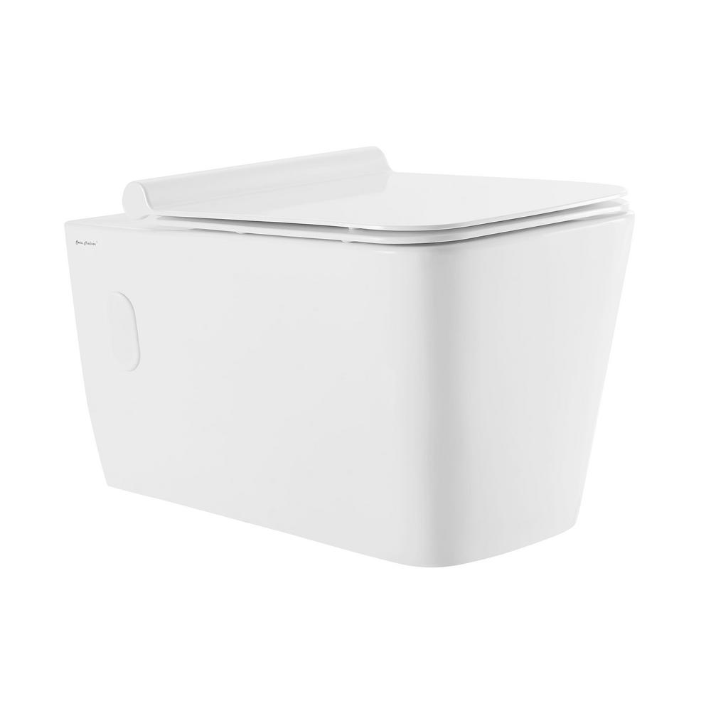 0.8/1.28 GPF Concorde Wall Hung Square Dual Flush Elongated Toilet Bowl