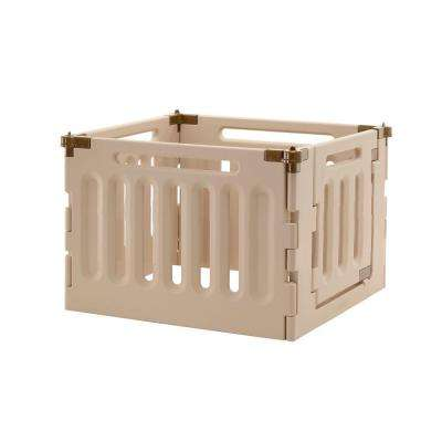 Low 4-Panel Plastic Convertible Indoor/Outdoor Pet Playpen