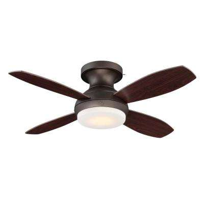 Kinsey 44 in. LED Indoor Bronze Ceiling Fan with SkyPlug Technology with Remote Control