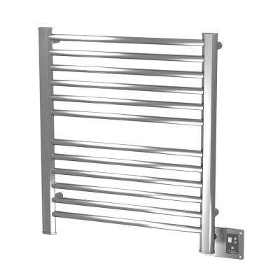 Sirio S-2933 29 in. W x 33.25 in. H 12-Bar Electric Towel Warmer in Brushed Stainless Steel