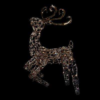 48 in multi posing brown deer with 105 lights - Outdoor Christmas Star Decoration