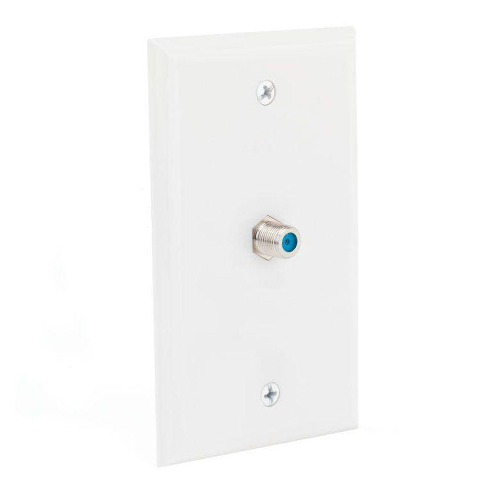 Commercial Electric Coaxial Wall Plate, White